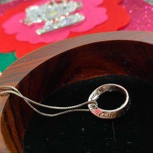 Live, Laugh, Love & Be Brave Silver Necklace